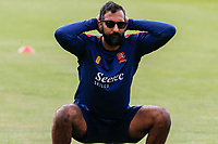Varun Chopra of Essex squats during Essex CCC Training at The Cloudfm County Ground on 22nd July 2020