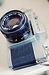 An old vintage film camera