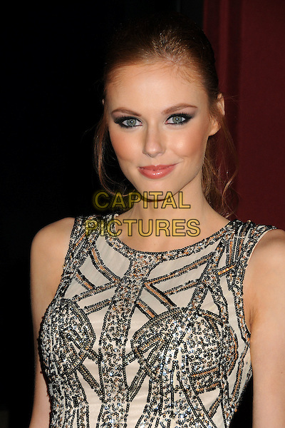 Alyssa Campanella.Kristin Cavallari Celebrated as Chinese Laundry's Web Ambassador held at The Library at The Redbury Hotel, Hollywood, California, USA..October 17th, 2011.headshot portrait silver beige gold sleeveless beads beaded  .CAP/ADM/BP.©Byron Purvis/AdMedia/Capital Pictures.