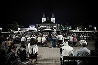 Faithful at the night adoration in Medjugorje.