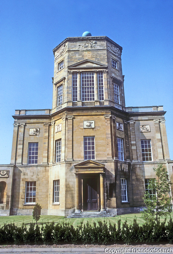 Oxford: Radcliffe Observatory, Henry Keen & James Wyatt, 1717-94. The Octagonal Tower after the Tower of the Winds, Athens. The first example of Greek Revival in Oxford. Photo '87.
