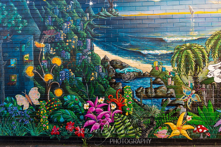 Scenic wall painting in Adelaide, Australia.