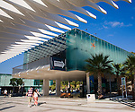Museo Alborania Aula del Mar at the Quay two El Palmeral de las Sorpresas port development of the modern new cruise terminal, Malaga, Spain
