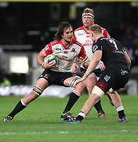 Franco Mostert of the Emirates Lions during the Vodacom Super Rugby match between the Cell C Sharks and the Emirates Lions the at Growthpoint Kings Park in Durban, South Africa. 15th July 2017(Photo by Steve Haag)