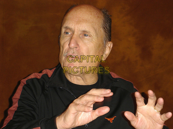"ROBERT DUVALL.Press conference for ""Broken Trail"", Los Angeles, USA.   .July 2006.Ref: AW.headshot portrait hands.www.capitalpictures.com.sales@capitalpictures.com.© Capital Pictures."
