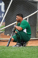 Lynchburg Hillcats left fielder Sicnarf Loopstok (13) during practice before a game against the Wilmington Blue Rocks on June 3, 2016 at Judy Johnson Field at Daniel S. Frawley Stadium in Wilmington, Delaware.  Lynchburg defeated Wilmington 16-11 in ten innings.  (Mike Janes/Four Seam Images)