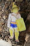 Traex or Thracian gladiator model, Circa Romano hippodrome, Merida, Extremadura, Spain