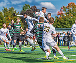 3 October 2015: University of Vermont Catamount Midfielder Charlie DeFeo, a Senior from Newfields, NH, in action against the Binghamton University Bearcats at Virtue Field in Burlington, Vermont. The Catamounts were unable to complete a late game rally, falling to the Bearcats 2-1 in America East conference play. Mandatory Credit: Ed Wolfstein Photo *** RAW (NEF) Image File Available ***