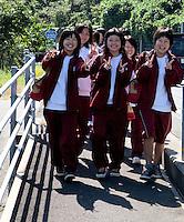Nichinan highchool students en route on their annual 25k hike.