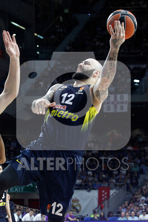 Fenerbahce Istambul's Pero Antic during Euroleague, Regular Season, Round 29 match. March 31, 2017. (ALTERPHOTOS/Acero)