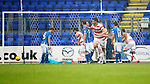 St Johnstone v Hamilton Accies...12.09.15  SPFL McDiarmid Park, Perth<br /> Lucas Tagliapietra gets Accies only goal<br /> Picture by Graeme Hart.<br /> Copyright Perthshire Picture Agency<br /> Tel: 01738 623350  Mobile: 07990 594431