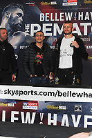The Undercard and Main Event press conference for Saturday May 5th's boxing at the 02 arena in London. May 3, 2018. Credit: Matrix/MediaPunch ***FOR USA ONLY***<br /><br />REF: TST 181389