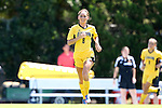 30 August 2013: Kennesaw State's Hannah Churchill (ENG). The Duke University Blue Devils played the Kennesaw State University Owls at Fetzer Field in Chapel Hill, NC in a 2013 NCAA Division I Women's Soccer match. Duke won 1-0.