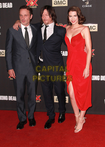 2 October 2014 - Universal City, California -Andrew Lincoln, Norman Reedus, Lauren Cohan attends AMC celebrates the season five premiere of its hit series, &ldquo;The Walking Dead,&rdquo;  at the  AMC Universal Citywalk Stadium 19/IMAX.  <br /> CAP/ADM/TBO<br /> &copy;Theresa Bouche/AdMedia/Capital Pictures