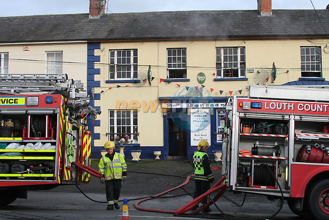 Drogheda fire service backed up Ardee fire service at a fire in a public house on Sunday afternoon 15/11/09.Photo: Fran Caffrey/www.newsfile.ie...