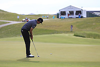 Keegan Bradley (USA) putts on the 3rd green during Friday's Round 2 of the 117th U.S. Open Championship 2017 held at Erin Hills, Erin, Wisconsin, USA. 16th June 2017.<br /> Picture: Eoin Clarke | Golffile<br /> <br /> <br /> All photos usage must carry mandatory copyright credit (&copy; Golffile | Eoin Clarke)