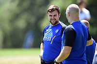 Dan Cooper of Bath Rugby looks on. Bath Rugby pre-season training on July 2, 2018 at Farleigh House in Bath, England. Photo by: Patrick Khachfe / Onside Images