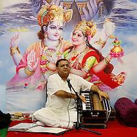 Nederland  Amsterdam. Divali viering in de Bijlmer in de Lord Shiva Hindu Temple. De priester. Foto Berlinda van Dam / Hollandse Hoogte