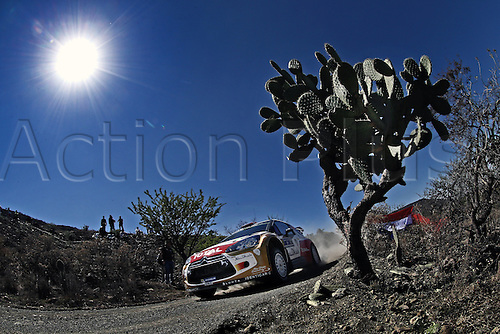06.03.2014. GUANAJUATO, Mexico. The World Rally Championships (WRC) of Mexico.  Mads Ostebrg (NOR) and Jonas Andersson (SWE) - Citroen DS3 WRC