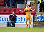 St Johnstone v Motherwell&hellip;17.12.16     McDiarmid Park    SPFL<br />Richard Tait celebrates his goal<br />Picture by Graeme Hart.<br />Copyright Perthshire Picture Agency<br />Tel: 01738 623350  Mobile: 07990 594431