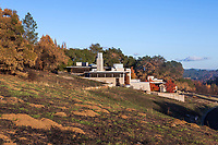 Dwight Center, Fire safe building in California native landscape, recovery after 2017 Sonoma  fires, Pepperwood Preserve
