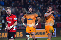 Juan Manuel Leguizamon (centre) during the 2019 Super Rugby final between the Crusaders and Jaguares at Orangetheory Stadium in Christchurch, New Zealand on Saturday, 6 July 2019. Photo: Dave Lintott / lintottphoto.co.nz
