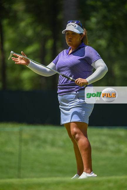 Lizette Salas (USA) watches her putt on 2 during round 4 of the U.S. Women's Open Championship, Shoal Creek Country Club, at Birmingham, Alabama, USA. 6/3/2018.<br /> Picture: Golffile | Ken Murray<br /> <br /> All photo usage must carry mandatory copyright credit (© Golffile | Ken Murray)