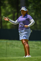 Lizette Salas (USA) watches her putt on 2 during round 4 of the U.S. Women's Open Championship, Shoal Creek Country Club, at Birmingham, Alabama, USA. 6/3/2018.<br /> Picture: Golffile | Ken Murray<br /> <br /> All photo usage must carry mandatory copyright credit (&copy; Golffile | Ken Murray)