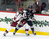 Alexander Kerfoot (Harvard - 14), Anthony Walsh (Yale - 16) - The Harvard University Crimson defeated the Yale University Bulldogs 6-4 in the opening game of their ECAC quarterfinal series on Friday, March 10, 2017, at Bright-Landry Hockey Center in Boston, Massachusetts.