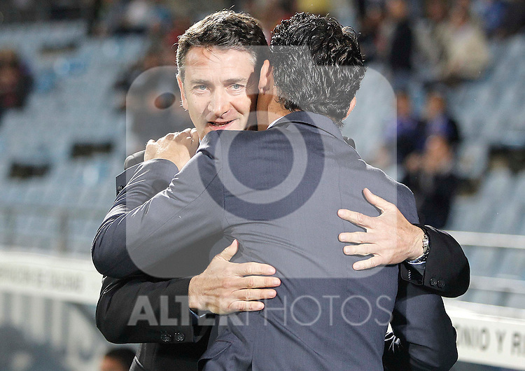 Real Sociedad's coach Philippe Montainer during La Liga match. May 06, 2013. (ALTERPHOTOS/Alvaro Hernandez)