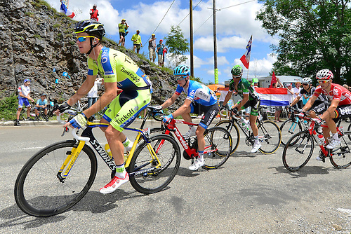 22.07.2014. Carcassonne to Bagnères-de-Luchon, France. Tour de France cycling championship, stage 16.   ROGERS Michael (AUS - Team TINKOFF-SAXO)