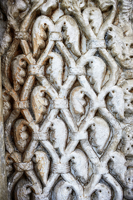 12th century medieval relief sculptures on the doors of the Basilica Church of Santa Maria Maggiore, Tuscania