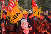 Paris railway workers join a strike against a new work contract, introduced by Prime Minister Dominique de Villepin, that allows companies with fewer than 20 employees to fire them within two years instead of six months.