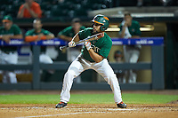 Randy Batista (2) of the Miami Hurricanes squares to bunt against the North Carolina Tar Heels in the second semifinal of the 2017 ACC Baseball Championship at Louisville Slugger Field on May 27, 2017 in Louisville, Kentucky. The Tar Heels defeated the Hurricanes 12-4. (Brian Westerholt/Four Seam Images)