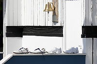 Shoes outside the umpire's room during Essex CCC vs Nottinghamshire CCC, Specsavers County Championship Division 1 Cricket at The Cloudfm County Ground on 14th May 2019