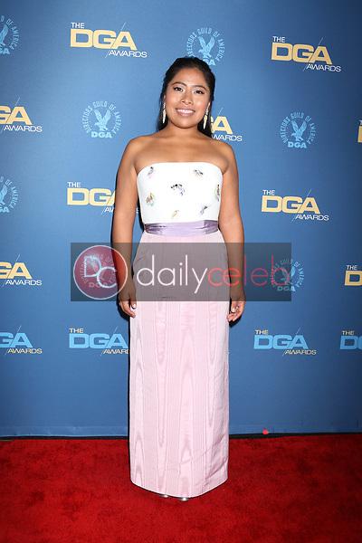 Yalitza Aparicio<br /> at the 71st Annual Directors Guild Of America Awards, Ray Dolby Ballroom, Hollywood, CA 02-02-19<br /> David Edwards/DailyCeleb.com 818-249-4998