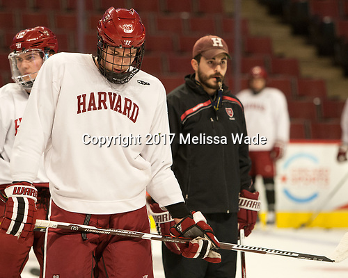 (Fox, Rassey) Jacob Olson (Harvard - 26) - The Harvard University Crimson practiced at the United Center on Wednesday, April 5, 2017, in Chicago, Illinois.