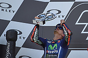 June 4th 2017, Mugello Circuit, Tuscany, Italy; MotoGP Grand Prix of Italy, Race day; 2nd placed Maverick Vinales on podium