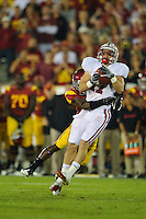LOS ANGELES, CA - October 29, 2011:  Griff Whalen during play against USC at the LA Coliseum in Los Angeles, CA.  Stanford won in triple overtime, 56 -48, and extended its winning streak to 16 games.