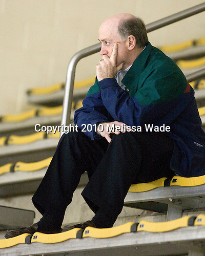 Buddy Powers (BU - Assistant Coach) - The Boston College Eagles defeated the Merrimack College Warriors 7-0 on Tuesday, February 23, 2010 at Conte Forum in Chestnut Hill, Massachusetts.