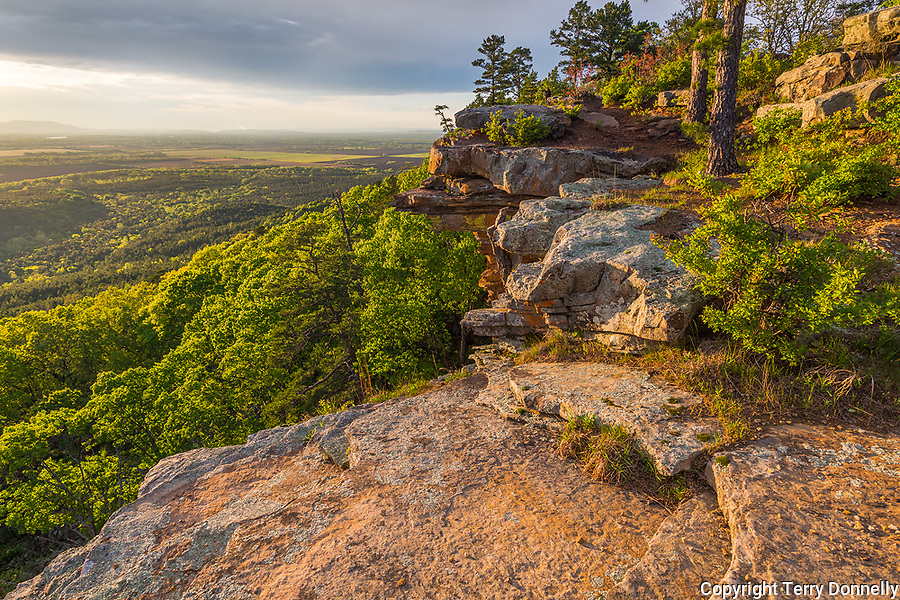 Petit Jean State Park, Arkansas:<br /> Overlook above Cedar Creek and the forested Arkansas River valley