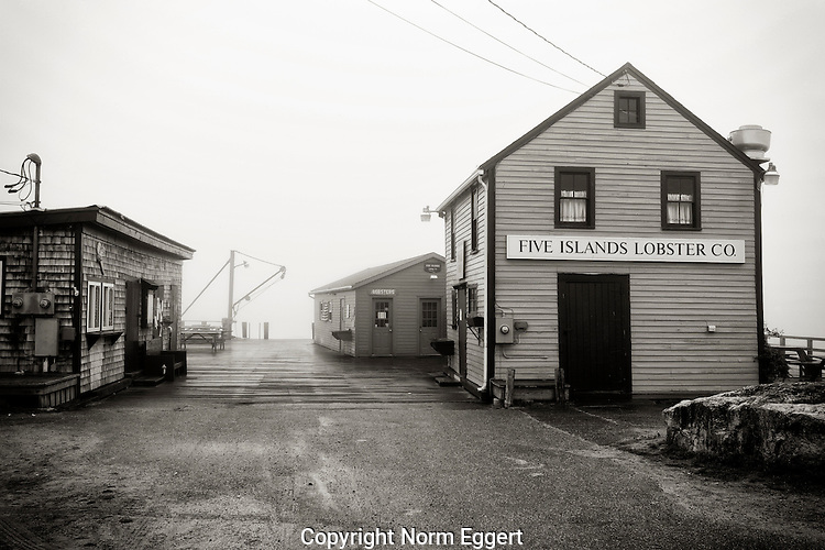 Five Islands Lobster Company, Georgetown, ME on a foggy morning