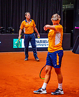 Den Bosch, The Netherlands, Februari 8, 2019,  Maaspoort , FedCup  Netherlands - Canada, Dutch team practise,Jacco Eltingh <br /> Photo: Tennisimages/Henk Koster