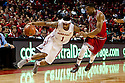 December 14, 2013: Deverell Biggs (1) of the Nebraska Cornhuskers on his toes dribbling into Ed Townsel (24) of the Arkansas State Red Wolves at the Pinnacle Bank Areana, Lincoln, NE. Nebraska defeated Arkansas State 79 to 67.