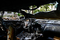 GERMANY, Hamburg, G-20 summit, riots, radicals have burned cars on the streets  / DEUTSCHLAND, Hamburg, G20 Gipfel in Hamburg, Randale, abgebrannte Autos