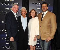 BEVERLY HILLS, CA - AUGUST 3: L-R) Alan Silvestri, Mitchell Cannold, Ann Druyan, and Neil DeGrasse Tyson arrive at the Fox And National Geographic Channel Presents A Screening Of 'Cosmos: A Spacetime Odyssey' at The Paley Center for Media on August 3, 2014 in Beverly Hills, California. PGFM/Starlitepics