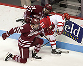 Ryan Badger (UMass - 21), Ryan Cloonan (BU - 8), Joseph Widmar (UMass - 26) - The Boston University Terriers defeated the University of Massachusetts Minutemen 3-1 on Friday, February 3, 2017, at Agganis Arena in Boston, Massachusetts.The Boston University Terriers defeated the visiting University of Massachusetts Amherst Minutemen 3-1 on Friday, February 3, 2017, at Agganis Arena in Boston, MA.