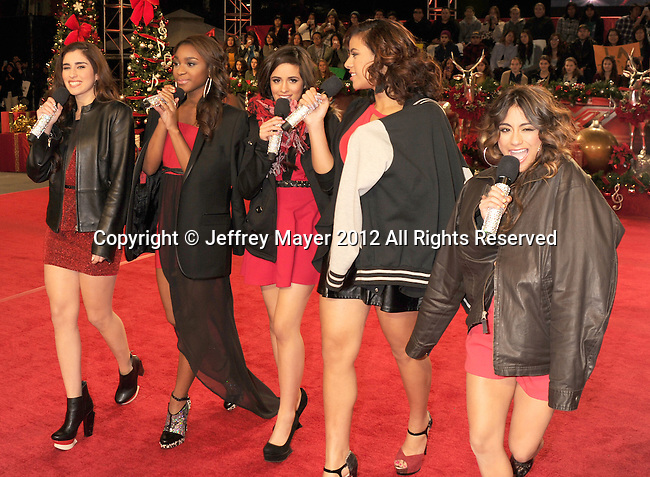 LOS ANGELES, CA - DECEMBER 19: Fifth Harmony arrives at Fox's 'The X Factor' Season Finale Night 1 at CBS Televison City on December 19, 2012 in Los Angeles, California.