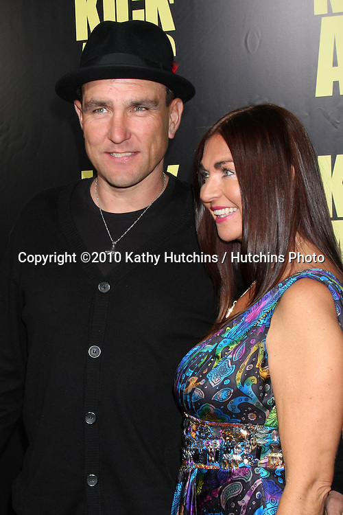 "Vinnie Jones & guest.arrives at  the ""Kick-Ass"" Premiere.ArcLight Dome Theater.Los Angeles, CA.April 13, 2010.©2010 Kathy Hutchins / Hutchins Photo..."