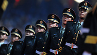 Poliziotti cinesi<br /> Pechino - Beijing 8/8/2008 Olimpiadi 2008 Olympic Games<br /> The Opening ceremony for the XXIX Olympic games.<br /> Cerimonia d'apertura delle Olimpiadi di Pechino 2008<br /> Foto Andrea Staccioli Insidefoto